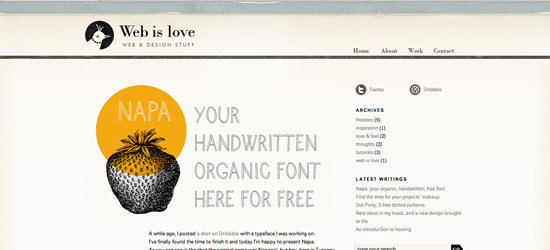Web is Love blog design