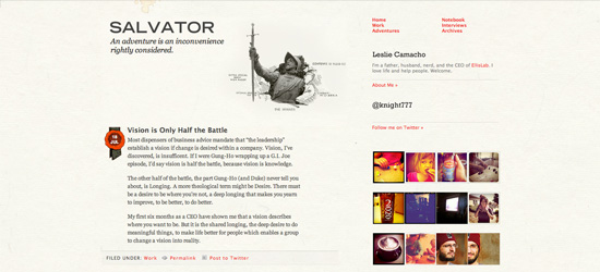 Salvator blog design
