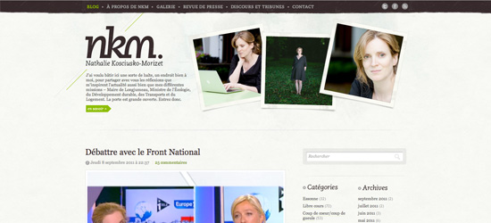 NKM Blog blog design
