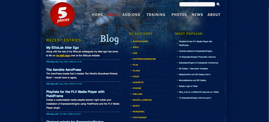 5 pieces blog design