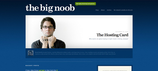 The Big Noob blog design