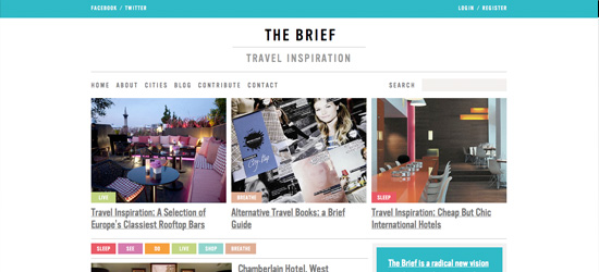 The Brief blog design