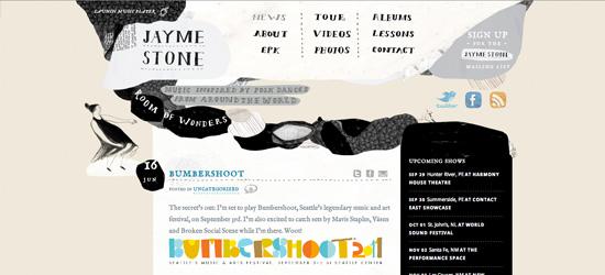 Jayme Stone blog design