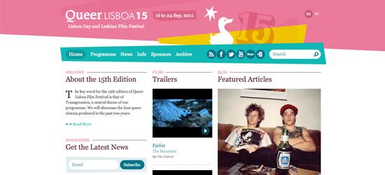 Queer Lisboa blog design