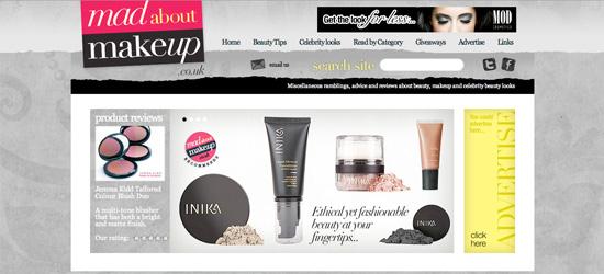 Mad About Makeup blog design