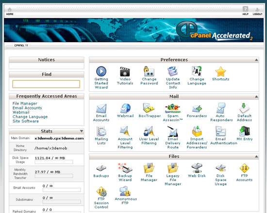 Backing up via cPanel