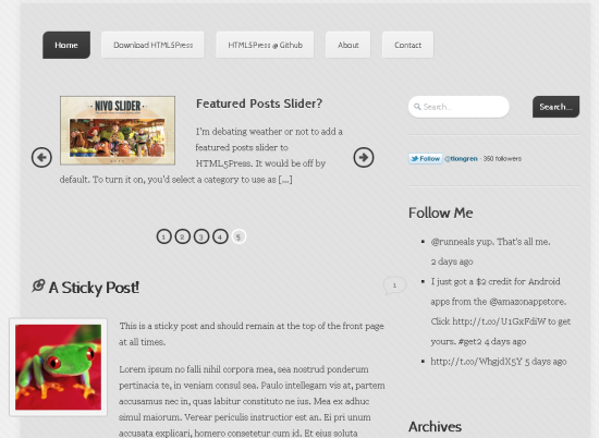 HTML5Press WordPress Theme
