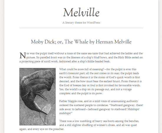 Melville WordPress Theme