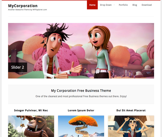 MyCorp WordPress Theme