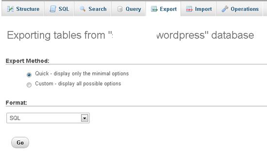 Backing Up Your Database Via PHPMyAdmin