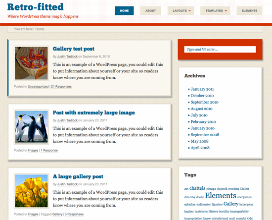 Retro Fitted WordPress Theme