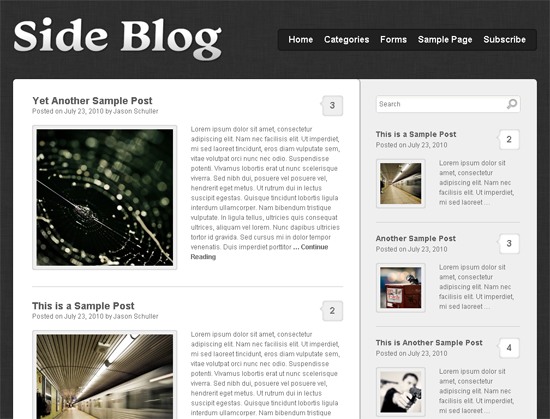 Side Blog WordPress Theme