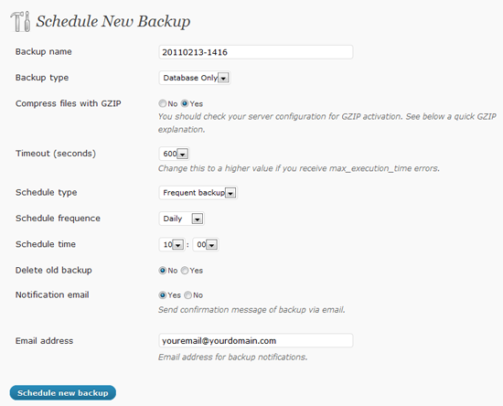 WordPress Smart Backup