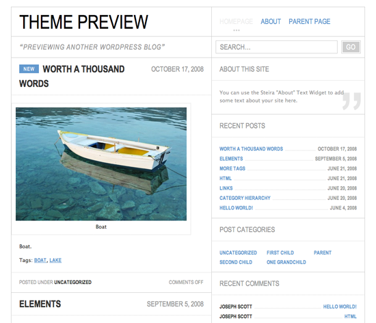 Steira WordPress Theme