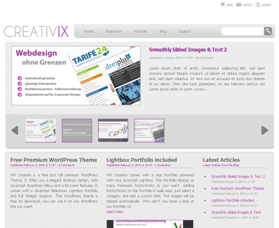 WP Creativix  WordPress Theme