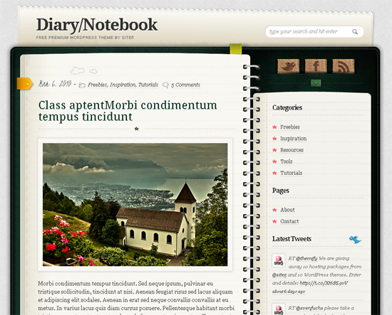 WordPress Diary Theme