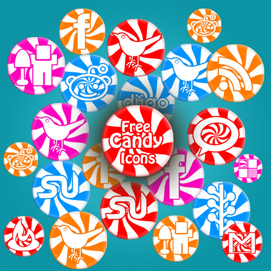 Free Sweet Candy Social Icon Pack