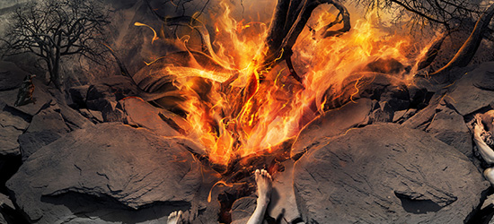 keep on fire nature photo manipulation