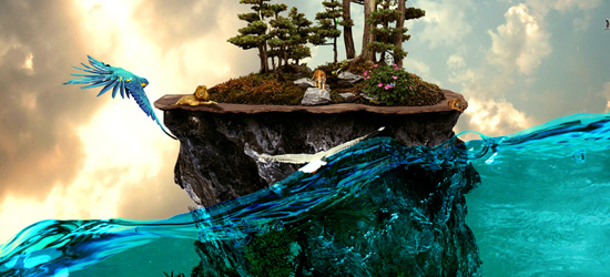 extraordinary island nature photo manipulation