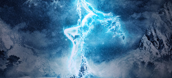 ice queen nature photo manipulation
