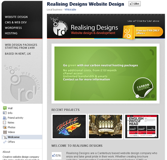 Realising Designs Website Design