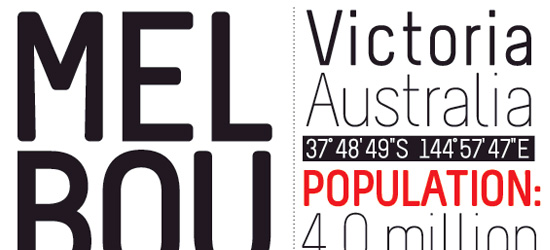 Melbourne Ultimate Free Font
