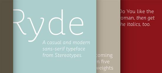 St Ryde Ultimate Free Font