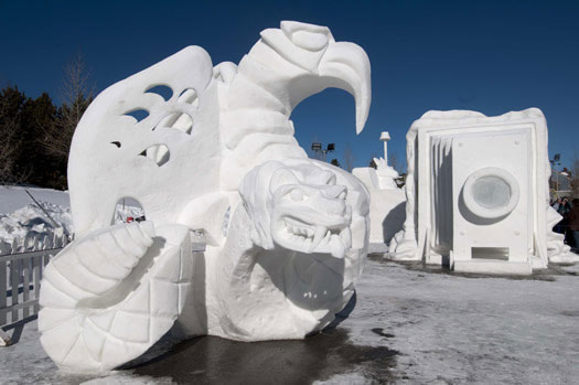 A Wintry Collection of Inspired Snow Sculptures