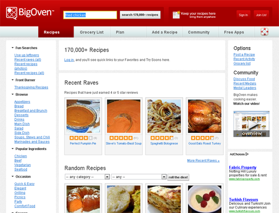 25 delicious food and drink related websites food one of the largest recipe websites forumfinder Gallery