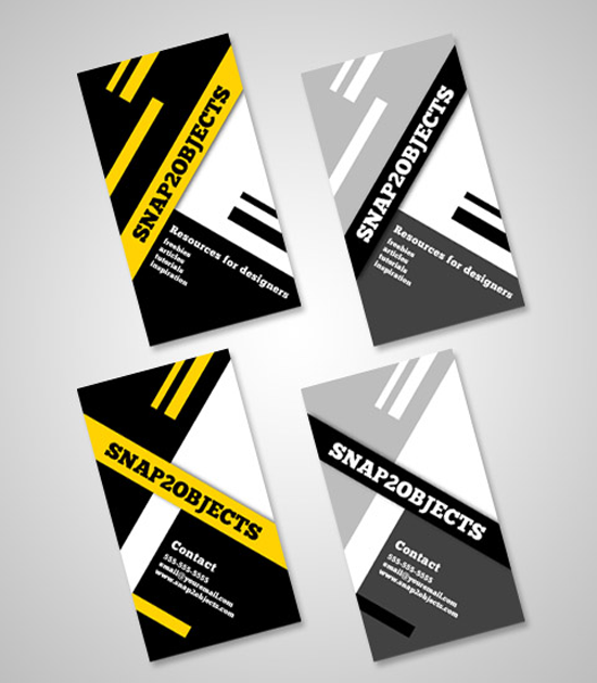 50 free photoshop business card templates the jotform blog a business card template pack reheart Images