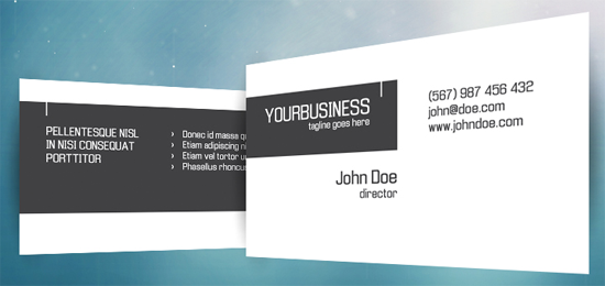 Modern Business Cards  9 Free PSD   Business Templates