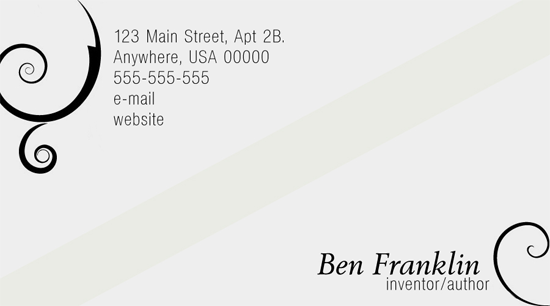 'Elegance' Business Card PSD