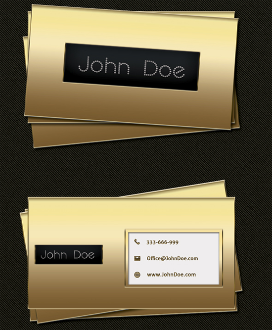 Gold Business Card Free PSD