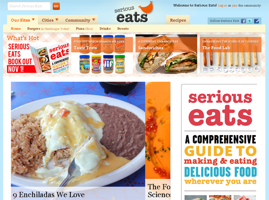 25 delicious food and drink related websites serious eats forumfinder Gallery