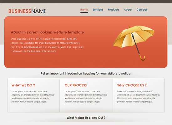 Css Templates Business Websites Free Download