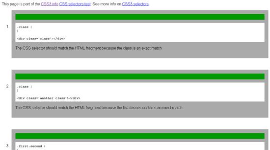 CSS3 Selectors Test