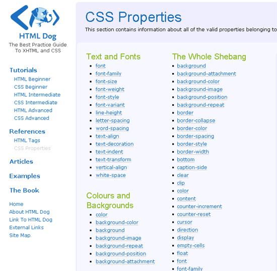 HTML5 CSS Properties