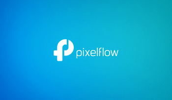 Created For A Small Freelance Business The Pixelflow Logo Beautifully Blends Letter P And F Into Same Icon Simple Yet Elegant Design