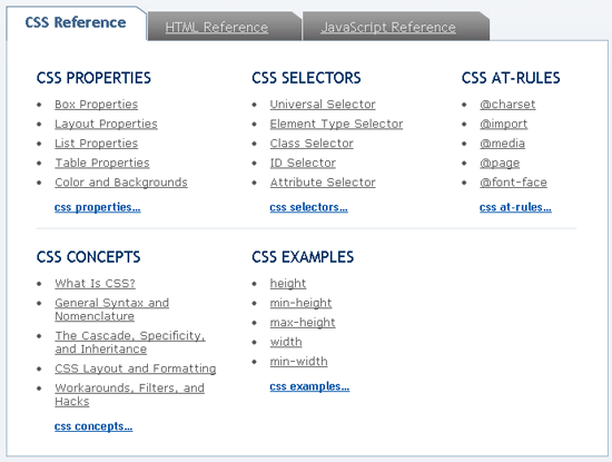 SitePoint CSS Reference