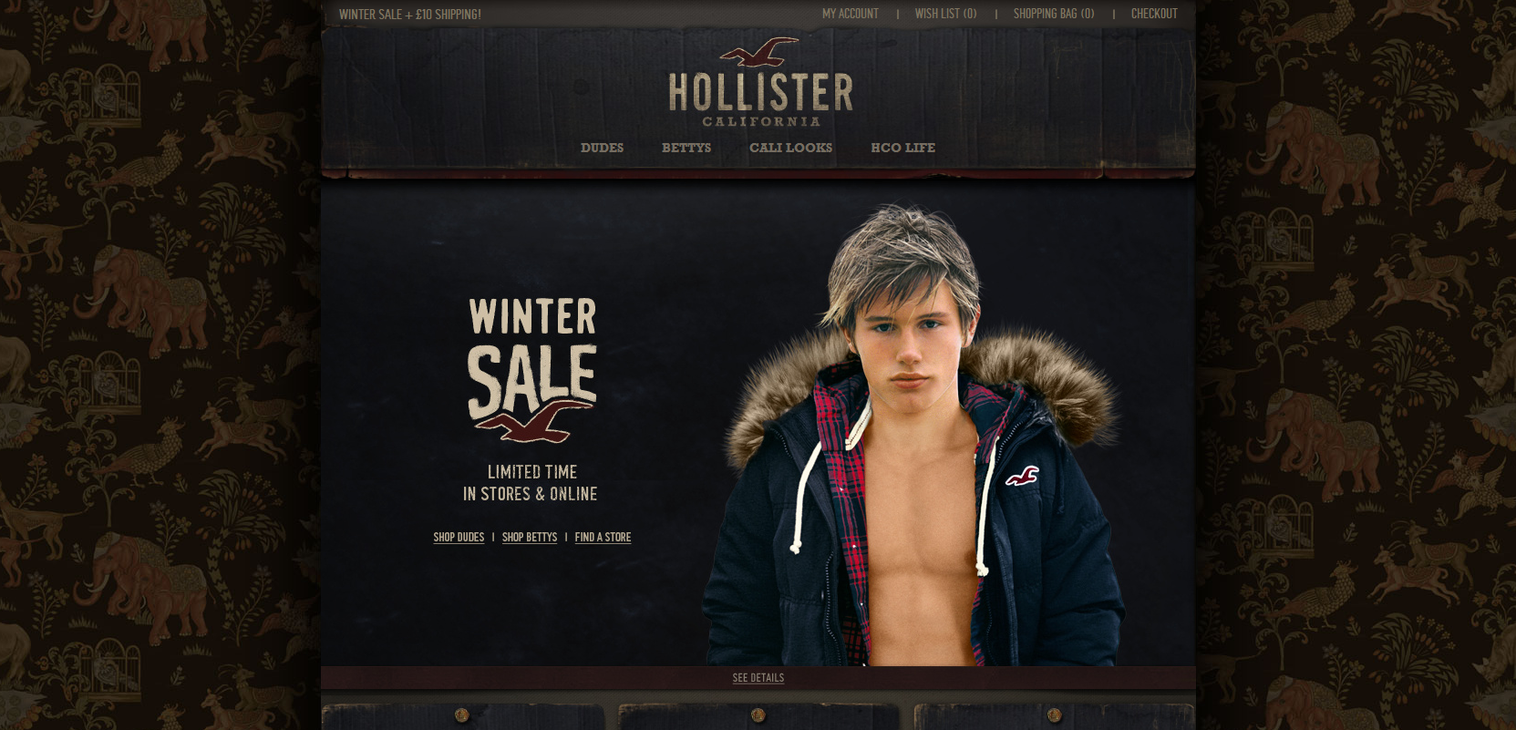 Printed web print design inspired websites Hollister design