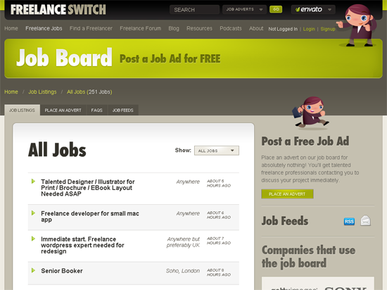 New Job Wanted? Find Your Designer or Developer Job Here