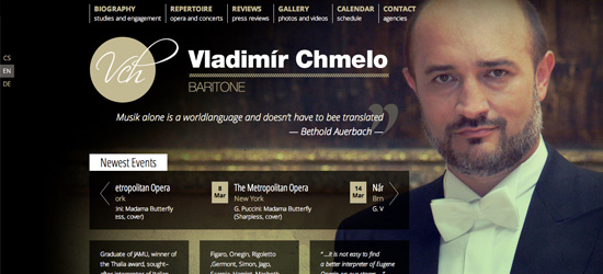 Vladimir Chmelo website design