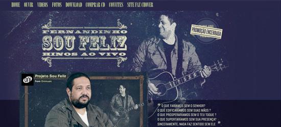 Fernandinho - Sou Feliz website design