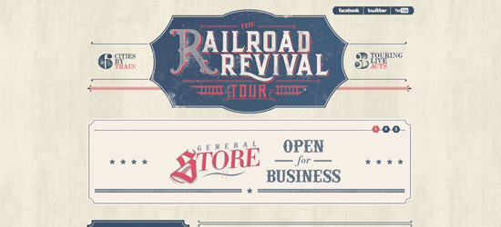 Railroad Revival Tour website design