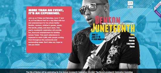 Denton Juneteenth website design