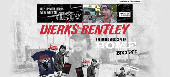 Dierks Bentley website design
