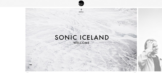 Sonic Iceland website design