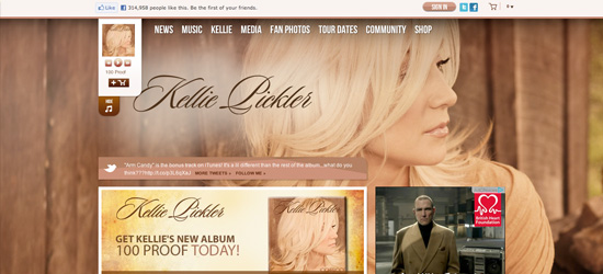 Kellie Pickler website design