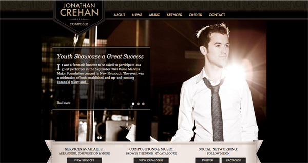 Jonathan Crehan website design