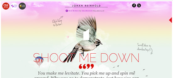 Johan Reinhold website design